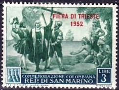 Timbre: Surcharge Foire de Trieste