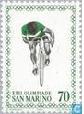 Timbre: JO Moscou-cycliste-