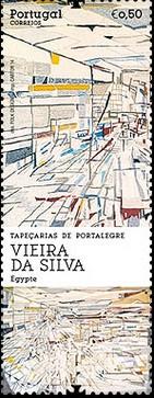 timbre: Tapisseries de Portalegre - Vieira de Silva