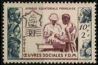 timbre: Au profit des œuvres sociales de la France d'Outre-Mer