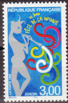 timbre: Europa France 1998 -