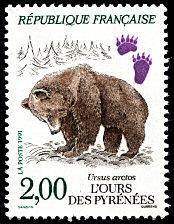 timbre: Ours des Pyrénées