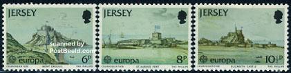 Timbre: Europa  les 3 timbres