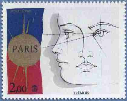 Timbre: Philexfrance'82 Dessins symboliques de Trémois