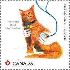 Timbre: Animal de compagnie Adh chat - voir note  *1*