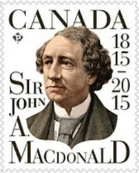 Timbre: Sir John A. Macdonald - voir note *1*