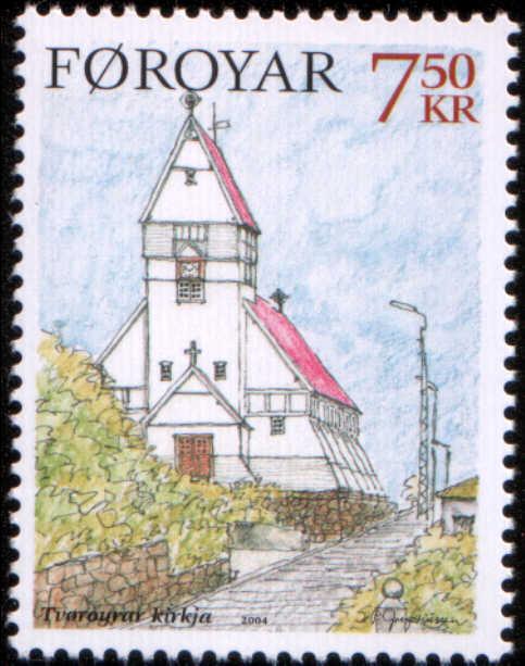 Timbre: Noël église de Tvaroyrar (rsv leinad)