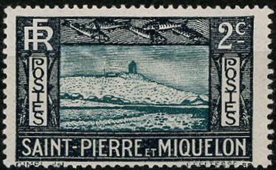 Timbre: Falaise et Phare - décoté . charnière