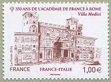 Timbre: 350 ans de l'Académie de France à Rome