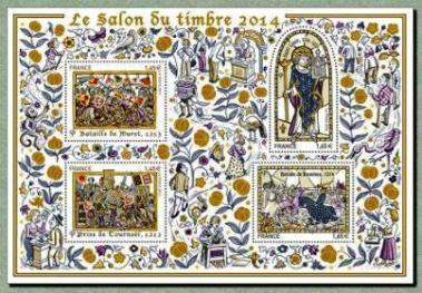 Timbre: BLOC  SALON DU TIMBRE 2014