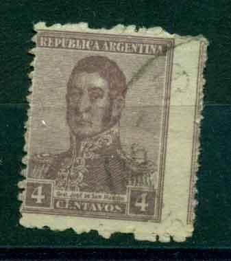 Timbre: José de San Martin   filigrane C
