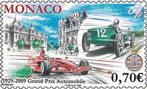 Timbre: 80 ans du Premier Grand Prix Automobile