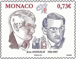 Timbre: Centenaire de la naissance de Jean Anouilh