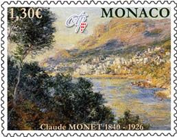 Timbre: 170 ans de la naissance de Monet