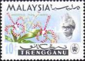 Timbre: Fleur : orchidée Arachnis flosaeris (trengganu)