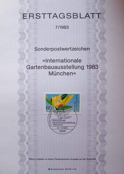 Timbre: Exposition internationale d'horticulture à Munich