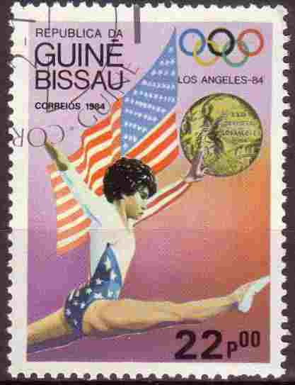 timbre: JO de Los Angeles 1984. Gymnastique