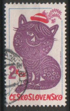 timbre: Le chat et son chapeau