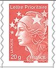 Timbre: Marianne Lettre Prioritaire 20g (adhésif)