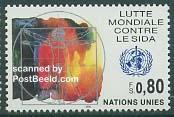 Timbre: NU Geneve: Lutte mondiale contre le sida