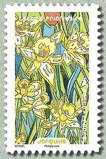 Timbre: Fleurs à foison - Jonquille