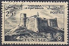 Timbre: Le fort génois de Tabarka (x4) [Y&T16pB]
