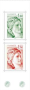 Timbre: 40 ans de Sabine de Gadon (Intérieur du carnet)