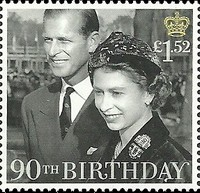 Timbre: 90 ann de S.M. Elizabeth II