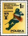 Timbre: Championnats du monde de de hockey sur glace