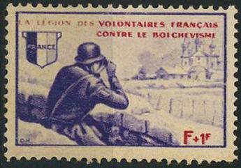 Timbre: Légion de Volontaires Français contre le Bolchevisme