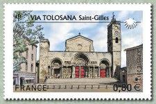 timbre: Via Tolosana - Saint-Gilles