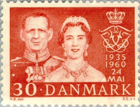timbre: Noces d'argent des souverains