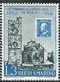 timbre: Centenaire du timbre de sicile