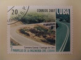 Timbre: Route centrale - Santiago de Cuba