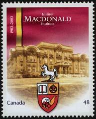 Timbre: Centenaire de l'Institut Macdonald