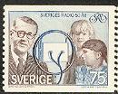 Timbre: 50ème anniversaire de la radio suédoise