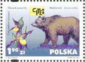 Timbre: Fleur et ours