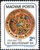 Timbre: Journée du timbre. Plat décoré