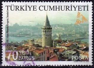 Timbre: La tour de Galata à Istanbul