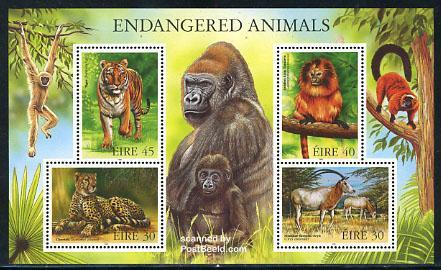 Timbre: Animaux en voie d'extinction