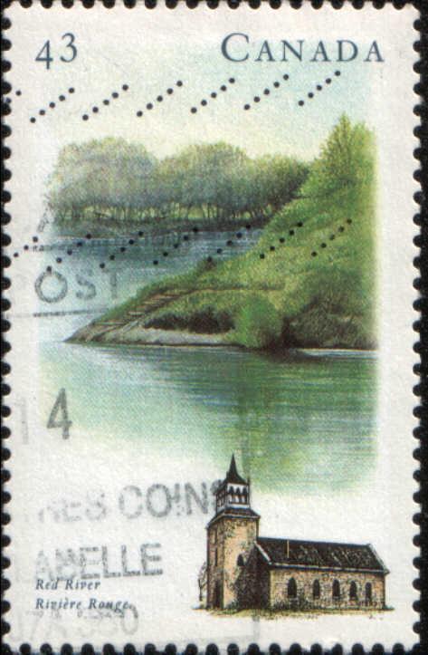 Timbre: Rivière rouge et église St Andrews