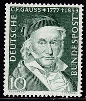 Timbre: C.F. Gauss, astronome et mathématicien