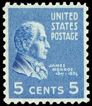 Timbre: James Monroe