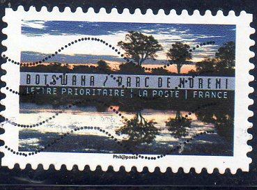 Timbre: Bostwana : Parc de Moremi OBLI RONDE