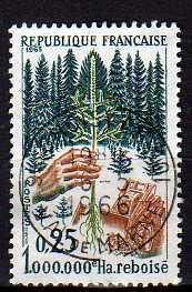 Timbre: Millionème hectare reboisé