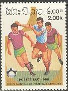 Timbre: Coupe du monde de foot au Méxique 1986