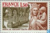 Timbre:  Abbaye de Fontenay. Côte d'Or.