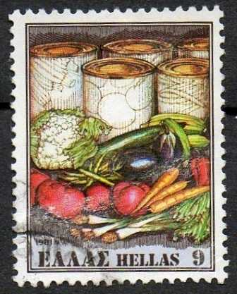 Timbre: Produits d'exportation - Légumes frais & conserves