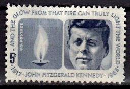 Timbre: Anniversaire de la mort de John Kennedy