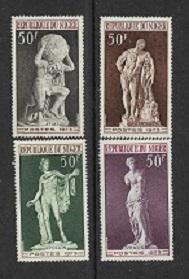 Timbre: Série Sculptures célèbres  -